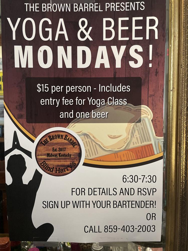 Beer & Yoga at the Brown Barrel